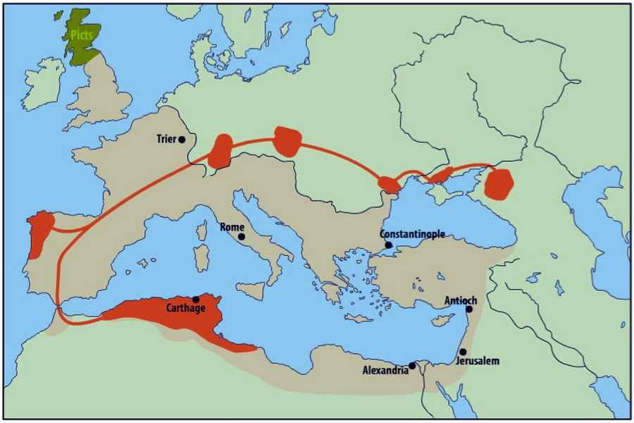 Переселение вандалов и их союзников